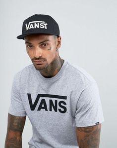 0e2ef94c211 Vans X Peanuts Snapback Cap In Black VA36HYO9M Black Vans