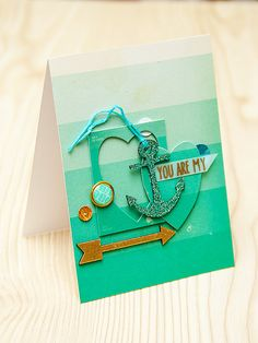 You Are My Anchor using #Spellbinders dies and papers from #CratePaper. More Spellbinders projects here http://www.zrobysama.com.ua/?tag=spellbinders&lang=en