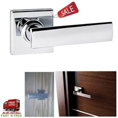 Polished Chrome Half Dummy Leve Door Hardware Tool Part Pull Handle Home Office #Kwikset