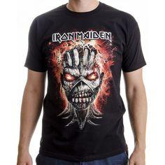 Tricou Iron Maiden: Eddie Exploding Head Iron Maiden, Mens Tops, Fashion, Moda, Fashion Styles, Fashion Illustrations
