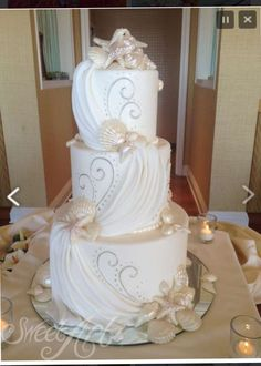 beach wedding cakes 10 best photos - Page 13 of 13 - Cute Wedding Ideas Cute Wedding Ideas, Perfect Wedding, Our Wedding, Dream Wedding, Lace Wedding, Wedding Venues, Wedding Photos, Wedding Wishes, Mermaid Wedding