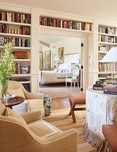 Living Room Modern, Interior Design Living Room, Home Library Decor, Home Decor, Library Room, Dream Library, California Bedroom, Passementerie, Trendy Home