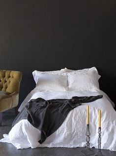 Casual and simple and that deep charcoal paint colour!  I love it.
