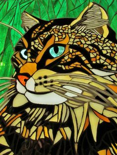 Custom Order Cat Pet Artwork Mosaic Stained by StayCsStainedGlass