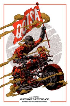 Image result for queens of the stone age hamburg 2013 poster