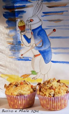 I muffins di Bianconigio: con carote candite e farina d'orzo