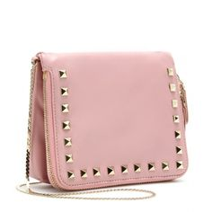 Valentino Rockstud Mini Leather Shoulder Bag ($793) ❤ liked on Polyvore