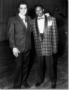 ELVIS with B.B. KING who got his start at the same radio station that launched Elvis- KWEM Radio Station- West Memphis, Arkansas