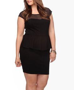 Mesh Peplum Dress $22.80