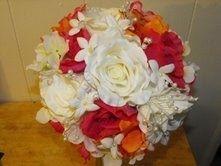 Summer 2013! 1 Brides bouquet just $35.00. Davids bridal 2013 colors below: Regency Purple / Lapis / Freezia / Plum / Wisteria / Horizon Blue / Pool / Champagne / Cocoa / Latte / Watermelon / Tangerine / - Silk Wedding Flowers For Less!