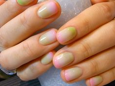 ooh i like this. not necessarily the colours, but the super subtle blend. i'd do it in shades of nude. lol.