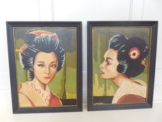 Vintage 60's Pair of  Paint by Number by LeFTofCenTerVinTage, $69.00