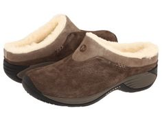 Fuzzy clogs by Merrell.....I wear these allll winter!