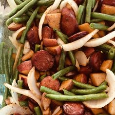Grilled Sausage with Potatoes and Green Beans, %keywords%, Mommy Taste Foil Packet Dinners, Foil Pack Meals, Foil Dinners, Foil Packets, One Pot Meals, Easy Meals, Hobo Meals, Pork Recipes, Cooking Recipes