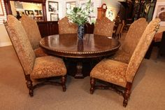 Phillip Langdon Dining Table with 6 Chairs - Colleen's Classic Consignment, Las Vegas, NV www.colleenconsign.com