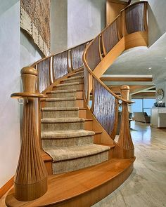 beautiful stairs. love the banister.