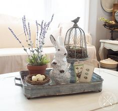 Easter Decorations 232357662009100966 - Farmhouse Tablescape Ideas for Spring Source by Coffee Table Centerpieces, Decorating Coffee Tables, Centerpiece Ideas, Easter Centerpiece, Coffee Table Tray Decor, Kitchen Island Centerpiece, Centerpiece Wedding, Oster Dekor, Diy Osterschmuck