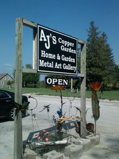 AJ's Copper Garden, Homestead-Amana IA.  Lots of expensive but awesome things to look at.