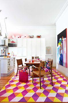 Colourful rug!