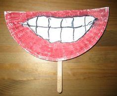 Funny Teeth Craft to promote dental health! Pediatric Dentist St. Louis - www.kidsdentistry.com: