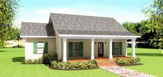 House Plan 64575 | Country    Plan with 1260 Sq. Ft., 3 Bedrooms, 2 Bathrooms