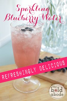 Sparkling Blueberry Water: So Refreshing and Delicious!  Dump the soda and get on the water train, yo.