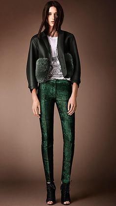 English Trellis Jacquard Trousers | Burberry