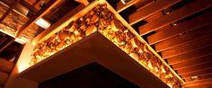 Lights above the Bar homeslice chicago