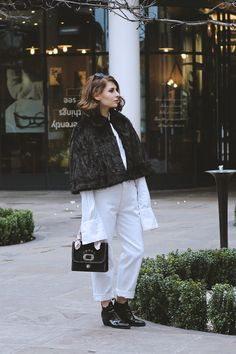 LFW street style look Street Style Looks, My Outfit, Monochrome, Normcore, London, Colors, Outfits, Fashion, Moda