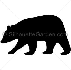 Brown bear silhouette clip art. Download free versions of the image in EPS, JPG…