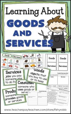 "Goods and Services Primary Economics Unit Standard: Economics/Markets People use money to buy and sell goods and services. Literature: ""The Most Magnificent Thing"" by Ashley Spires 3rd Grade Social Studies, Kindergarten Social Studies, Social Studies Activities, Teaching Social Studies, First Grade Activities, First Grade Math, Grade 1, Second Grade, Science Classroom"