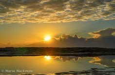 Sunrise at ILUKA BLUFF BEACH NSW. Loved the quietness in the air on this morning. Enjoy capturing the mirrored effect of the clouds over the rock pools.