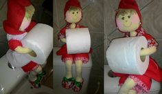 boneca de pano porta papel higienico