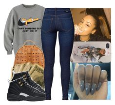 """BBHMM"" by thenamesdejja ❤ liked on Polyvore featuring NIKE and Dr. Denim"