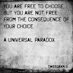 Crazy choices get you crazy consequences