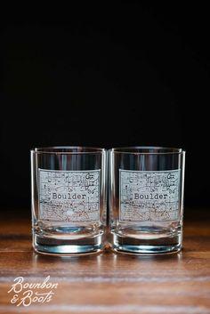 Boulder College Town Rocks Glass Set