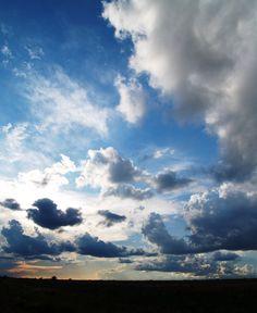 Summer evening with sunset, Clovis NM