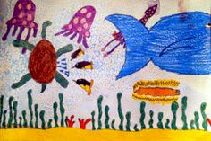 Under the sea! A drawing made by Corey, 11 years old, Artist Of The Day on 02/28/2013 • Art My Kid Made #kidart #animals #water