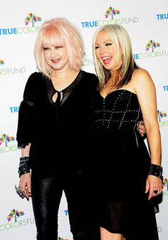 Singers Cyndi Lauper and Terri Nunn attend the annual Cyndi Lauper and Friends Home For The Holidays at The Beacon Theatre on December 8 2012 in. Beacon Theater, Theatre, Berlin Band, Cyndi Lauper, Singers, Mosaic, December, Holidays, Friends