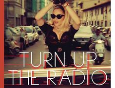 """Madonna is wearing """"Gatta"""" acetate eyewear from the Moschino Spring/Summer 2012 collection on the cover of her single and new video """"Turn Up The Radio"""" released July 16. available @metro_optics in the BX!"""