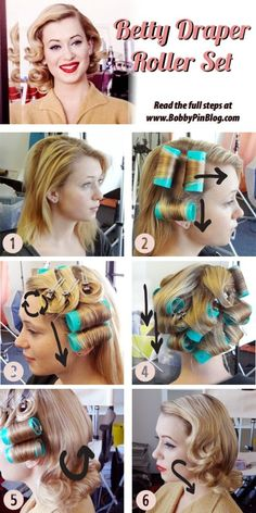 Betty Draper Vintage Hairstyle Directions