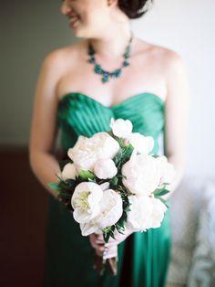 #peony, #bouquet| #emerald #green |