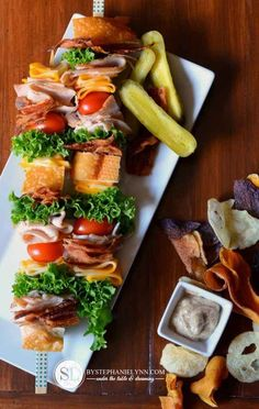 Chef salad food on a stick recipe brunch party salad and brunch classic club sandwich skewers stick foodfood forumfinder Choice Image