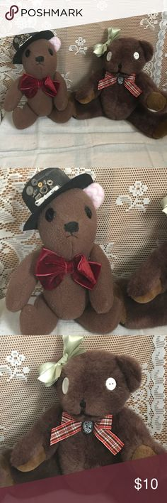 Gothic SteamPunk Teddy Bears Adorable one of a kind teddy bears. Measurements are in the last picture. Other