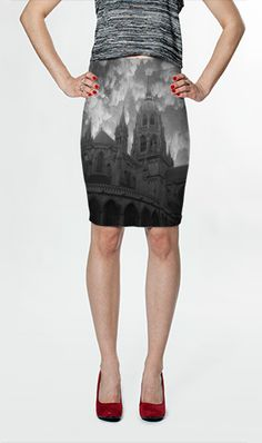 Cathedral Fitted Skirt $36.00 AUD by Moonriver Clothing