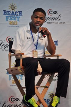 Inky Johnson at SEC BeachFest in Gulf Shores