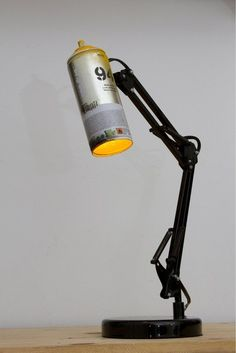 Spray Paint Swivel Arm Architect Lamp from IkuannaStudios on Etsy. did they adapt the IKEA frosa light? Spray Paint Lamps, Spray Painting, Architect Lamp, Licht Box, Vintage Industrial Lighting, Vintage Lamps, Ideias Diy, Spray Can, Paint Cans