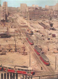 Warszawa,  ul. Marchlewskiego/Jana Pawła II 1974 r Warsaw Pact, Warsaw Poland, World Cities, Best Cities, Poland Cities, Tatra Mountains, Europe, Krakow, Historical Photos