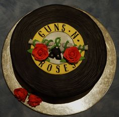 Guns And Roses Birthday Cake images