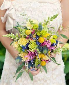 Beautiful bouquet from the garden
